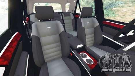 GTA 5 Mercedes-Benz ML63 (W164) 2009 rechte Seitenansicht