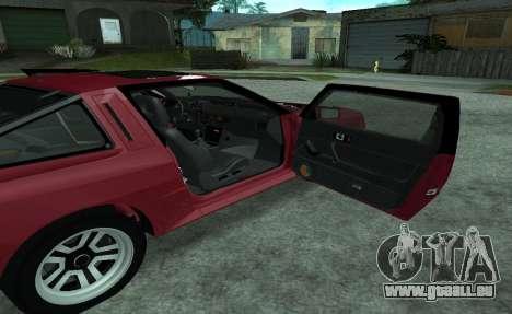 Mitsubishi Starion ECI-R für GTA San Andreas Seitenansicht