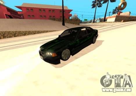 BMW E36 320i pour GTA San Andreas vue intérieure