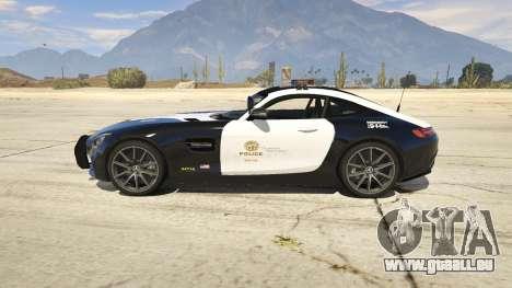 GTA 5 LAPD Mercedes-Benz AMG GT 2016 linke Seitenansicht