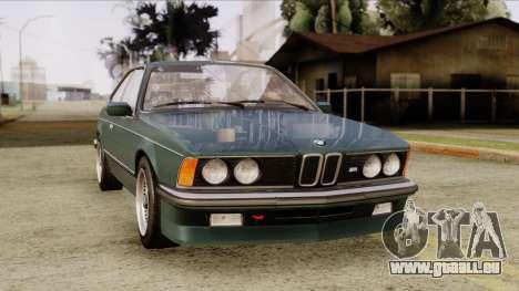 BMW M635 E24 CSi 1984 Stock pour GTA San Andreas vue de droite