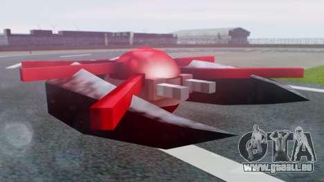 Alien Ship Red-Gray für GTA San Andreas