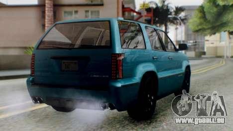 GTA 5 Albany Cavalcade II IVF pour GTA San Andreas laissé vue