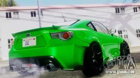 Subaru BRZ 2013 Rocket Bunny pour GTA San Andreas laissé vue