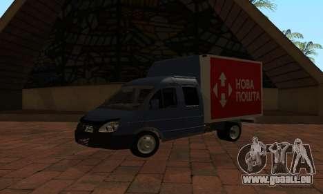 GAZelle 33023 Nova Poshta für GTA San Andreas