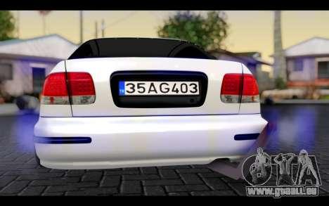 Honda Civic 1.6 für GTA San Andreas Innenansicht