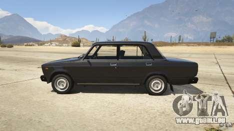 GTA 5 VAZ-2107 Lada Riva v1.2 linke Seitenansicht
