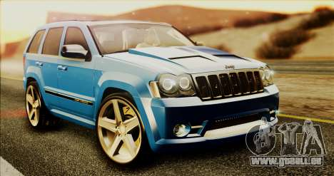 Jeep Grand Cherokee SRT8 Final version pour GTA San Andreas laissé vue