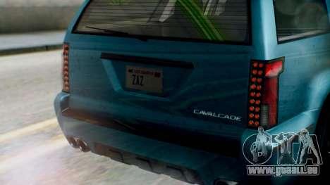 GTA 5 Albany Cavalcade II IVF pour GTA San Andreas vue intérieure