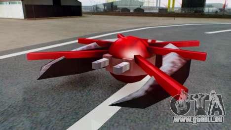 Alien Ship Red-Gray für GTA San Andreas rechten Ansicht
