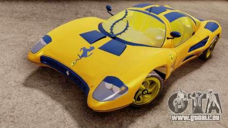 Ferrari P7 Gold für GTA San Andreas