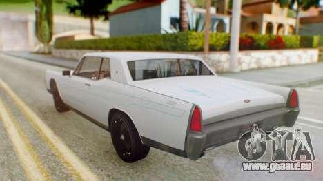GTA 5 Vapid Chino Tunable PJ pour GTA San Andreas vue intérieure