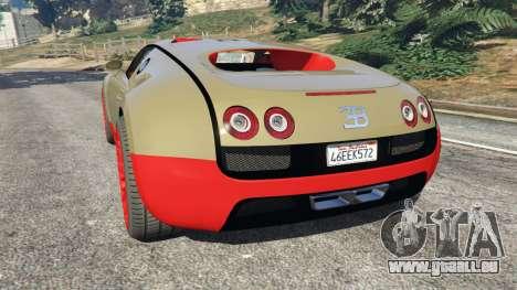 GTA 5 Bugatti Veyron Super Sport hinten links Seitenansicht