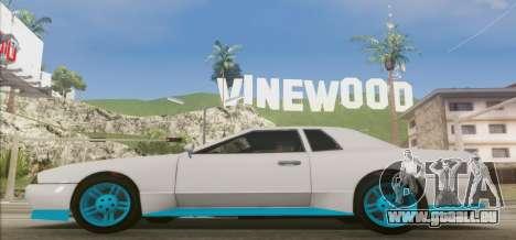 Elegy DRIFT KING GT-1 [2.0] (New wheels) pour GTA San Andreas laissé vue