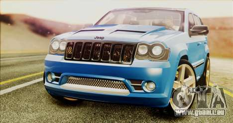 Jeep Grand Cherokee SRT8 Final version pour GTA San Andreas vue de droite