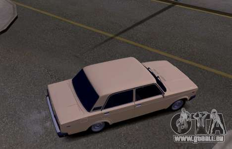 VAZ 2107 KBR pour GTA San Andreas vue intérieure