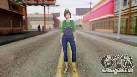 Fatal Frame 4 Misaki Luigi Clothes pour GTA San Andreas deuxième écran