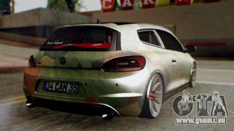 Volkswagen Scirocco R Army Edition pour GTA San Andreas laissé vue