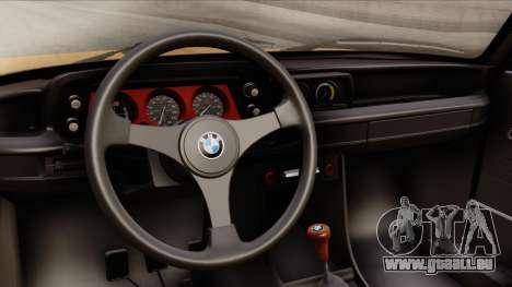 BMW 2002 Turbo 1973 Stock pour GTA San Andreas vue de droite