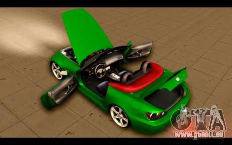Honda S2000 für GTA San Andreas obere Ansicht
