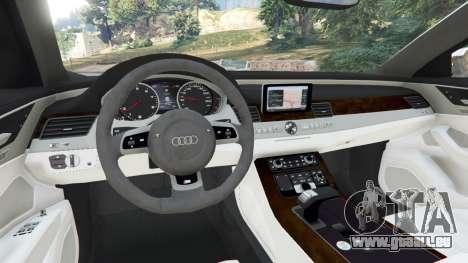 GTA 5 Audi S8 Quattro 2013 v1.2 arrière droit vue de côté