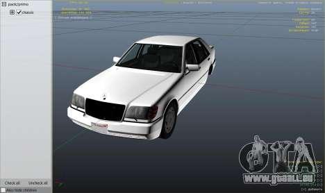 GTA 5 Mercedes-Benz S600 v1.1 rechte Seitenansicht