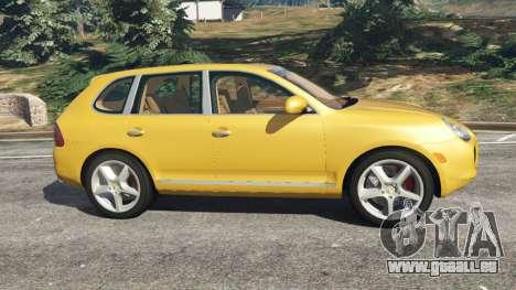GTA 5 Porsche Cayenne Turbo 2003 vue latérale gauche