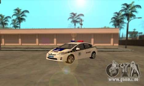 Toyota Prius Police De L'Ukraine pour GTA San Andreas laissé vue