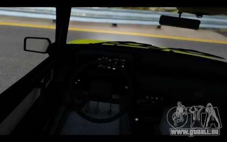 Lada Samara für GTA San Andreas Rückansicht