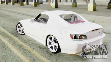 Honda S2000 SüvariGaragee für GTA San Andreas zurück linke Ansicht
