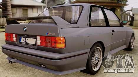 BMW M3 E30 1991 Stock für GTA San Andreas linke Ansicht