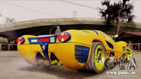 Ferrari P7 Gold für GTA San Andreas linke Ansicht
