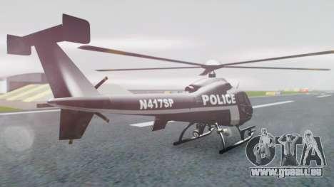 New Police Maverick pour GTA San Andreas laissé vue