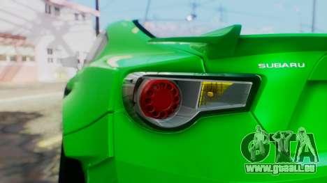Subaru BRZ 2013 Rocket Bunny pour GTA San Andreas vue arrière