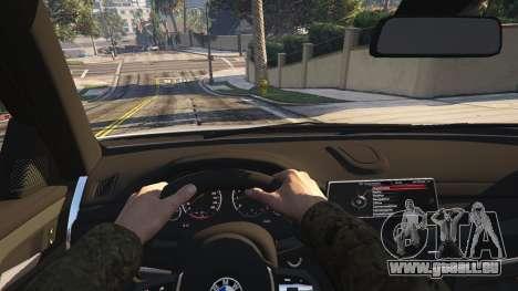 GTA 5 BMW X6M F16 Final arrière droit vue de côté