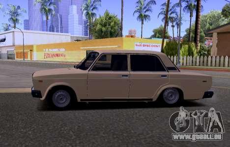 VAZ 2107 KBR pour GTA San Andreas vue arrière