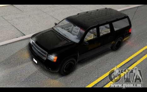 GTA 5 Declasse Granger FIB IVF pour GTA San Andreas vue intérieure