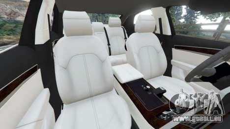GTA 5 Audi S8 Quattro 2013 v1.2 droite vue latérale