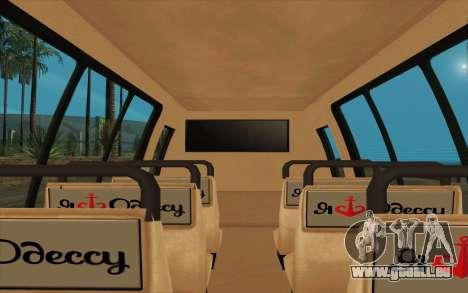 Iveco Custom Odessa pour GTA San Andreas sur la vue arrière gauche