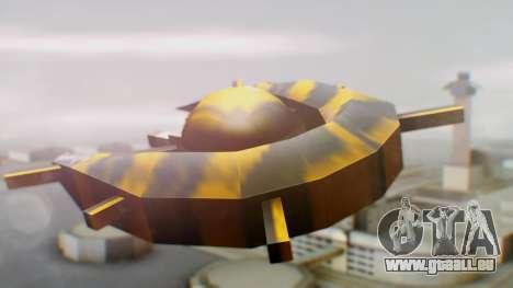 Alien Ship Yellow-Black für GTA San Andreas linke Ansicht