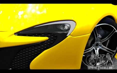 McLaren 650S Coupe für GTA San Andreas Rückansicht