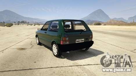 GTA 5 Fiat Uno 1995 arrière vue latérale gauche