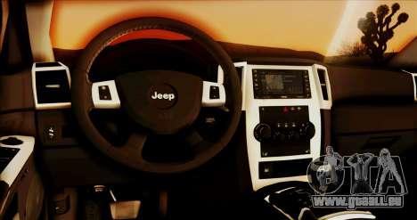 Jeep Grand Cherokee SRT8 Final version für GTA San Andreas Rückansicht