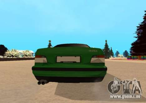 BMW E36 320i für GTA San Andreas zurück linke Ansicht