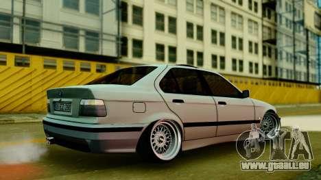 BMW 320 E36 pour GTA San Andreas laissé vue