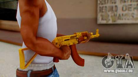 GTA 5 Assault Rifle Luxury Camo für GTA San Andreas dritten Screenshot