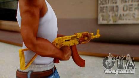 GTA 5 Assault Rifle Luxury Camo pour GTA San Andreas troisième écran