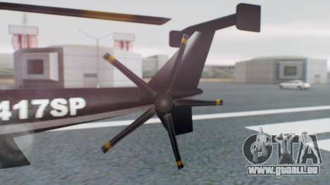New Police Maverick pour GTA San Andreas sur la vue arrière gauche