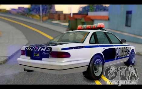 GTA 5 Curie IV Black pour GTA San Andreas laissé vue