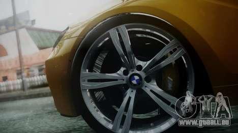 BMW M6 2013 für GTA San Andreas zurück linke Ansicht